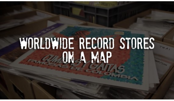 Worldwide Record Stores on a Map